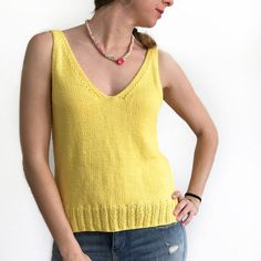 Summer Knitting, Pullover, Tank Tops, Crochet, 1, Base, Women, Fashion, Tricot