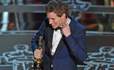 This moment of raw emotion was a welcome departure from the night's staged jokes and memorized speeches—and a reminder of how endearing Redmayne can be. #Oscars