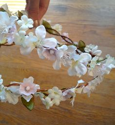 exquisite flower hair garland  BELLE FLEUR  white by thehoneycomb, $95.00
