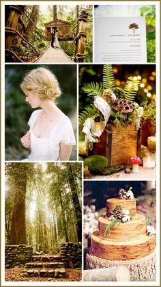 Greens and browns inspired by the beautiful shades of a woodland scene.