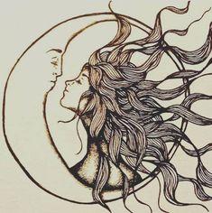 Creative Couple - Stunning Sun and Moon Tattoo Ideas - Photos #MoonTattooIdeas