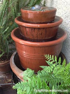 DIY Clay Pot Fountain