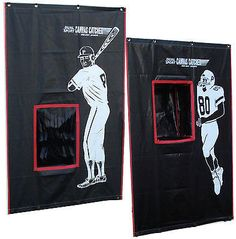 Batting Cage BackStop 2 Sports Catcher Baseball Football Vinyl backdrop