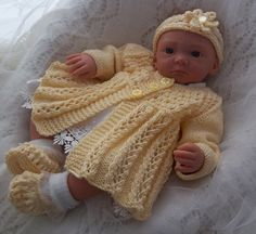 Baby Knitting Pattern Download Knitting por PreciousNewbornKnits