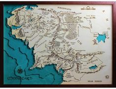 tolkiens hand drawn map of middle earth maps pinterest middle earth middle and earth