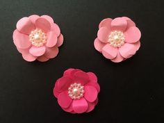 Easy paper flowers tutorial 6-12-15 - YouTube