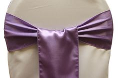 Standard Satin Chair Sash - Victorian Lilac