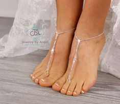 Crystal Beads, Crystals, Youth Shoes, Sexy Toes, Bare Foot Sandals, Silver Rhinestone, Feet Care, Organza Gift Bags, Toddler Shoes