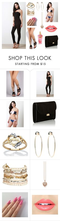 """""""Untitled #84"""" by nejrica-2007 ❤ liked on Polyvore featuring Mansur Gavriel, Palm Beach Jewelry, Bebe, Panacea, Thomas Sabo, Fiebiger and Victoria's Secret"""