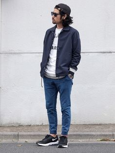 Casual Outfits, Men Casual, Fashion Outfits, Fashion Trends, Teen Boy Fashion, Mens Fashion, Boyfriend Style, Mens Clothing Styles, Blue Denim