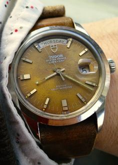 Vintage Tudor Jumbo Date Day 7017/0 with tropical dial