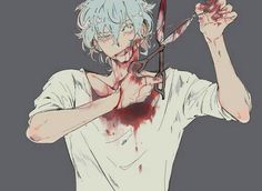 Bloody dark anime boy pastel Guro (one of my favorite pictures) Anime Bebe, Me Anime, Manga Anime, Anime Art, Dark Anime, Anime Style, Character Inspiration, Character Design, Scary
