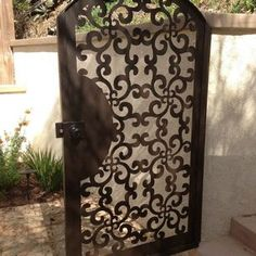 Gate Metal Custom Garden Entry Walk Thru Pedestrian Gates Ornamental Steel Wrought Iron by