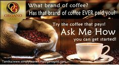 Starbucks, Nestle, Dunkin, Forger, another gourmet coffee ever paid you to refer their coffee? Probably not and wont. Organo gold will up to commissions. Coffee Uses, Alkaline Foods, Coffee Branding, Coffee Drinks, Drinking Coffee, Food Facts, Coffee Roasting, Natural Healing, Spice Things Up