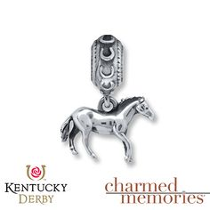 Charmed Memories Kentucky Derby Horse Sterling Silver Charm
