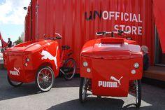 Puma cargo bike and street advertising