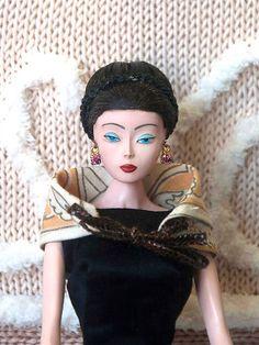 BILLYBOY* & LALA MDVANII DHEEI 1989 fashion doll cape/scarf Schiaparelli fabric | eBay