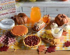 Jocelyn's Mountfield Dollhouse: fall foods