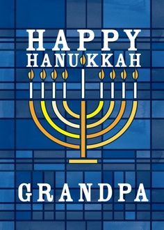 Menorah Window - Hanukkah Greeting Cards in Stormy Blue | Magnolia Press