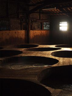 Soy sauce brewery in Shodo island, Japan could draw sculptures as islands in this type of landscape