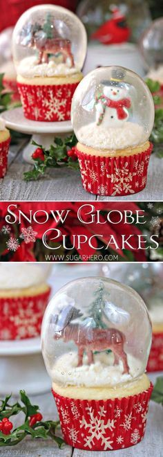 These Snow Globe Cupcakes with Gelatin Bubbles are easy to make when you know how and they will certainly wow your guests. Watch the video!