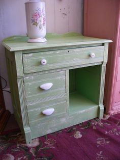 Shabby Chic Painted Side End Table Dresser by VintageAppleTreasure, $249.00 SOLD! www.thegoldenapplenc.com