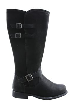 JJ Footwear brede schacht Laarzen zwart 2 3 XW hoge hak