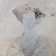 Portrait flamand 4 Huile sur toile 100x100cm de Nathalie Deshairs Melting Art Gallery - Lille (France)