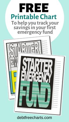 """Grab this chart and get started saving up your first Emergency Fund to put some distance between you and """"Murphy"""". The chart might just be the simplest, yet most effective piece of your debt free journey. Saving Money Chart, I Wish You Well, Debt Tracker, Free Checking, Budget Binder, Financial Peace, Budgeting Finances, Debt Free, Free Charts"""