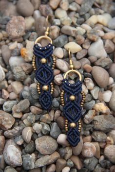 macrame earings por Rommymacrame en Etsy, $30.00 - Great work for more Wire crochet Ideas Vist my site https://www.etsy.com/il-en/shop/MacrameLoveJewelry
