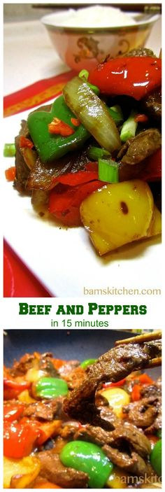 Beef and Peppers with Black Bean Sauce - Bam's Kitchen