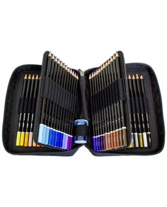 Colored Pencil Set of 72 - Includes Premium Colored Pencils, Travel Case, Pencil Sharpener, and Gift Box - Perfect Coloring Pencils For Adult Coloring Books with bright colors by ColorIt -- Awesome products selected by Anna Churchill