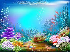 Underwater World Photography Backdrop Mermaid Birthday Party Baby Shower Photo Background Vinyl Phot Underwater Painting, Underwater World, Aquarium Backgrounds, Photo Backgrounds, Background For Photography, Photography Backdrops, Birthday Party Photography, Sea Pictures, Family Pictures