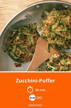 Zucchini-Puffer - My list of the best food recipes Healthy Juice Recipes, Healthy Juices, Vegan Recipes, Clean Eating Soup, Clean Eating Recipes, Zucchini Puffer, Italy Food, Eating Organic, Eat Smart