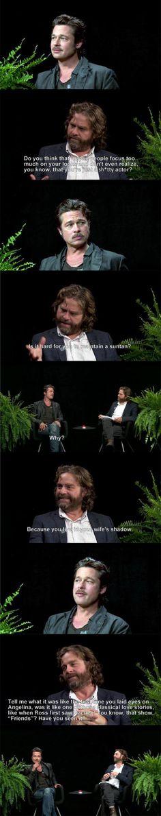 "Brad Pitt on ""Between Two Ferns"""