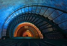 A dizzying view looking down the spiral staircase of Currituck Beach Lighthouse, Outer Banks, NC Nc Lighthouses, North Carolina Lighthouses, Outer Banks North Carolina, Outer Banks Nc, Nostalgia, Stairway To Heaven, Island Beach, Stairways, Vacation Spots