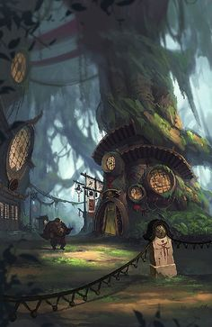 Homes for gnomes in the deep dark wood.