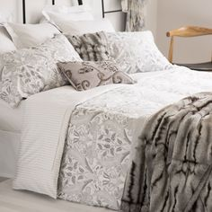 Silver Print Satin Bedding - Bed Linen - Bedroom   Zara Home United States of America