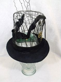 Hand Woven Wire Crown Steampunk Top Hat by REShats on Etsy, $300.00