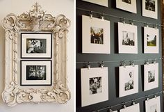Lots of great ideas for displaying photos in this post on napcp