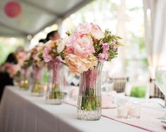 Vases for the bridesmaids bouquets! and bride's 10 thoughtful and easy tips that will make your guests LOVE your wedding - Wedding Party