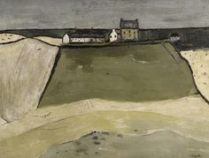 Robert Henderson Blyth, R.S.A., R.S.W. 1919-1970 FARM ON THE HILL, PENNAN signed l.r.: Blyth oil on board 41 by 53 cm., 16 by 21 in.