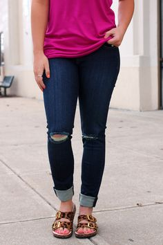 Dark Denim Skinny Jeans | UOIonline.com: Women's Clothing Boutique