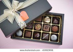 Box of chocolate - stock photo