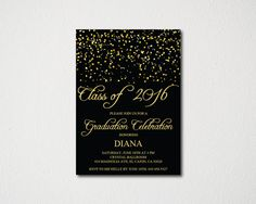 On sale class of 2016 graduation invitation card graduation on sale class of 2016 graduation invitation card graduation announcement print at home or e card high schoolcollegeuniversity by blesse stopboris Gallery