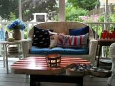 Last year Coach and I converted our deck into a screened-in porch, which was simply awesome. No more buggy nights, or rainy afternoons when we couldn't use the deck for anything other than fu…