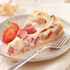 Rhubarb Berry Tart Recipe from Taste of Home -- shared by Mary Ann Lee of Clifton Park, New York