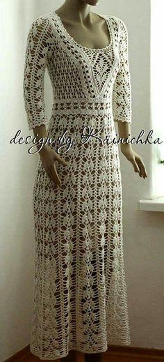 Do it yourself and Crafts Crochet Beach Dress, Crochet Summer Dresses, Summer Dress Patterns, Crochet Girls, Crochet Woman, Freeform Crochet, Dress With Cardigan, Crochet Cardigan, Diy Dress