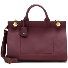 Anya Hindmarch Ephson Leather Tote ($1,915) ❤ liked on Polyvore featuring bags, handbags, tote bags and red