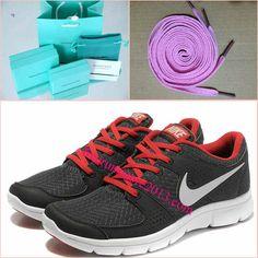 Mens Nike Flex Experience Run Black Sport Red White Shoes